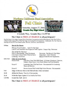 Fall Clinic 2016 Flyer